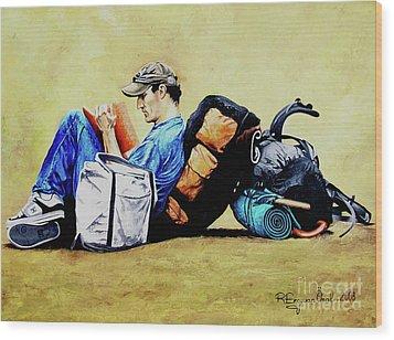 The Traveler 2 - El Viajero 2 Wood Print