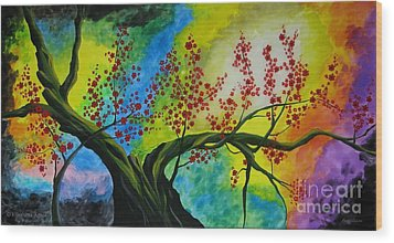 The Tree Wood Print by Betta Artusi