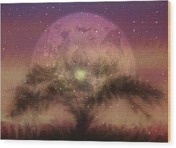 The Tree Of Illumination Wood Print by Mario Carini