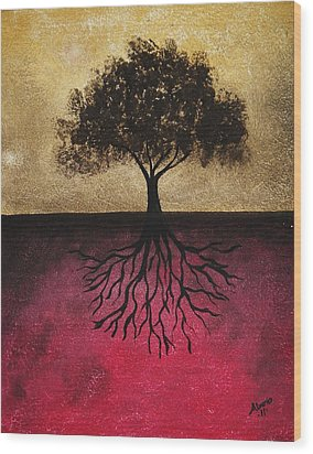 Wood Print featuring the painting The Tree Of Life by Edwin Alverio