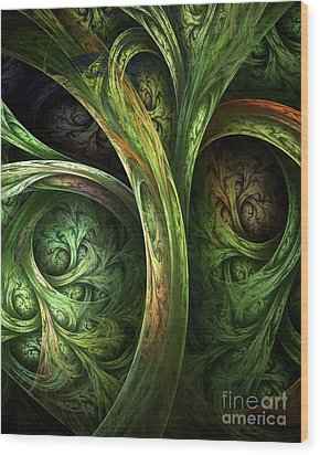The Tree Of Life Wood Print by Olga Hamilton