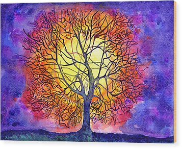 The Tree Of New Life Wood Print