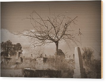 The Tree On Boot Hill  Wood Print