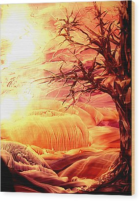 The Tree Wood Print by Tezz J