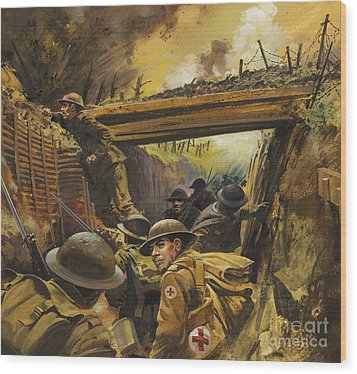 The Trenches Wood Print by Andrew Howat
