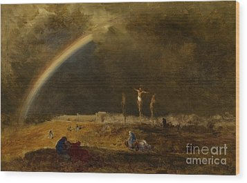 The Triumph At Calvary Wood Print by George Inness
