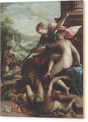 The Triumph Of Truth Wood Print by Johann or Hans von Aachen