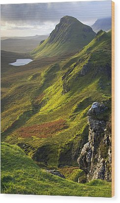 The Trotternish Hills From The Quiraing Isle Of Skye Wood Print by John McKinlay
