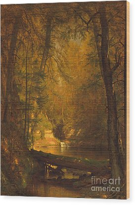 The Trout Pool Wood Print by John Stephens