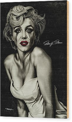 The True Marilyn Wood Print