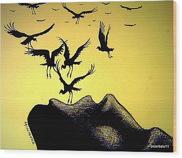 The Truth Is Inside Wood Print by Paulo Zerbato