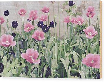 The Tulip Garden Wood Print by Jeannie Rhode