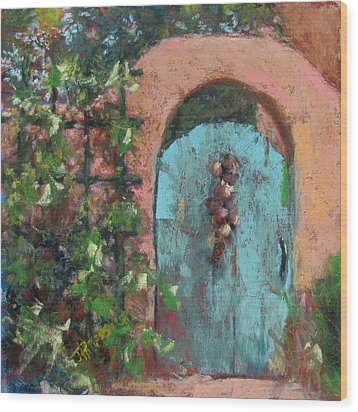 The Turquoise Door Wood Print by Julia Patterson