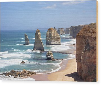 The Twelve Apostles Wood Print by Eena Bo