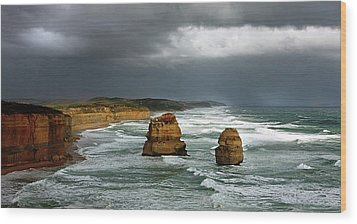 Wood Print featuring the photograph The Twelve Apostles by Marion Cullen