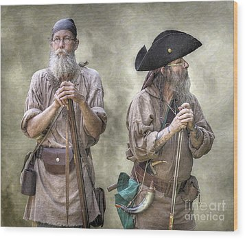 The Two Frontiersmen  Wood Print by Randy Steele