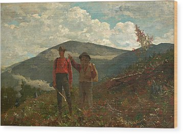 Wood Print featuring the painting The Two Guides by Winslow Homer