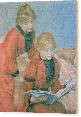 The Two Sisters Wood Print by Pierre Auguste Renoir