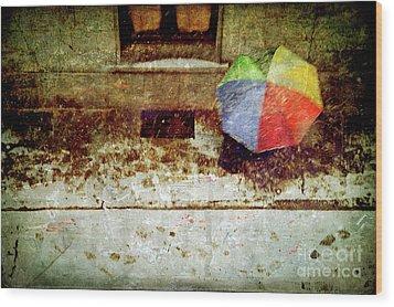 The Umbrella Wood Print by Silvia Ganora