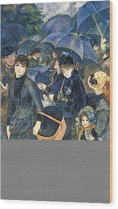 The Umbrellas Wood Print by Pierre Auguste Renoir