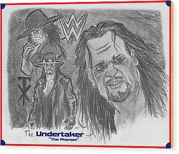 The Undertaker Wood Print by Chris  DelVecchio