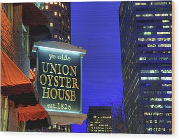 Wood Print featuring the photograph The Union Oyster House - Boston by Joann Vitali