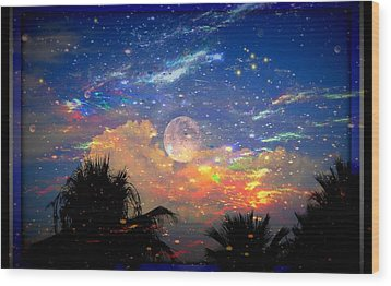 The Universal Moon Wood Print