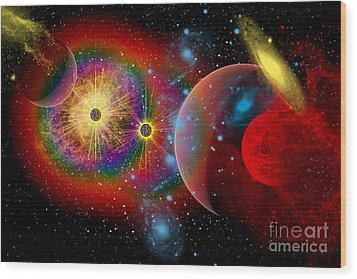 The Universe In A Perpetual State Wood Print by Mark Stevenson