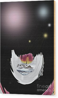 The Universe Wood Print by Sharon Broucek
