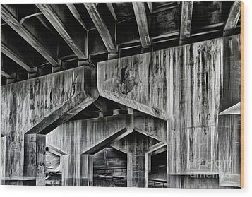 Wood Print featuring the photograph The Urban Jungle by Brad Allen Fine Art