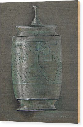 The Urn Wood Print by Ron Sylvia