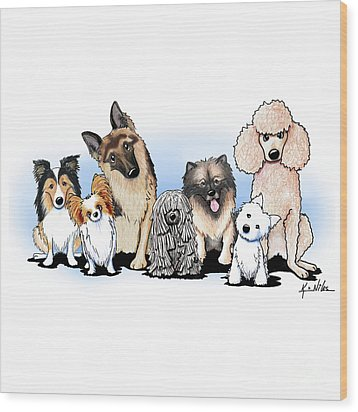 The Usual Suspects 3 Wood Print by Kim Niles