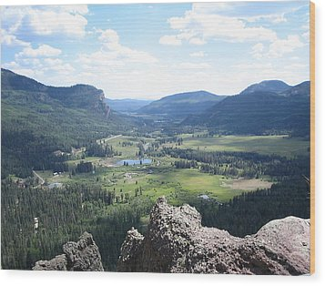 The Valley Below Wood Print by CGHepburn Scenic Photos