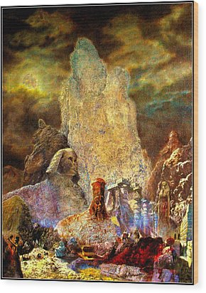 Wood Print featuring the painting The Valley Of Sphinks by Henryk Gorecki
