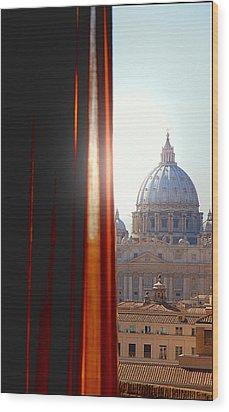 The Vatican Wood Print by Valentino Visentini