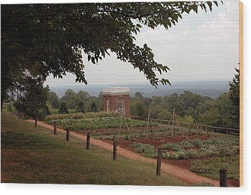 The Vegetable Garden At Monticello Wood Print