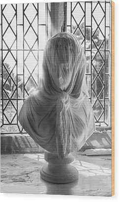 The Veiled Lady Wood Print by Stewart Scott