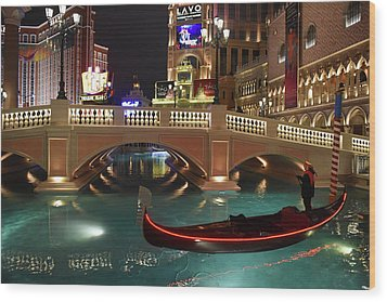 Wood Print featuring the photograph The Venetian Las Vegas by Dung Ma