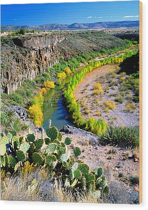 The Verde River Wood Print