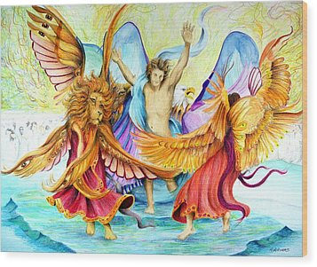 The Victory Dance Wood Print