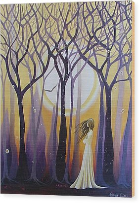 The View Wood Print by Amanda Clark