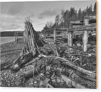 The View From Here Wood Print by Darryl Luscombe