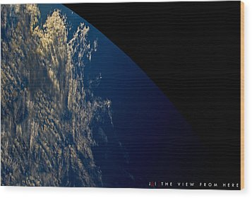 The View From Here Wood Print by Jonathan Ellis Keys