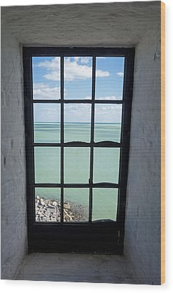 The View From The Lighthouse Window Bill Baggs Lighthouse Key Biscayne Florida Wood Print
