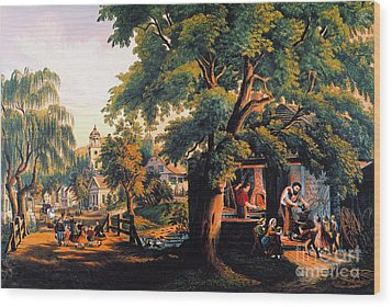 The Village Blacksmith Wood Print by Granger