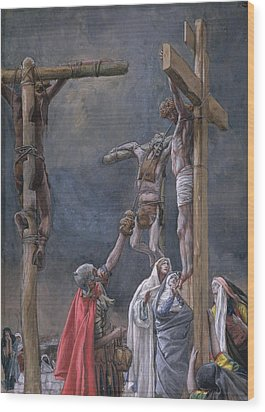 The Vinegar Given To Jesus Wood Print by Tissot
