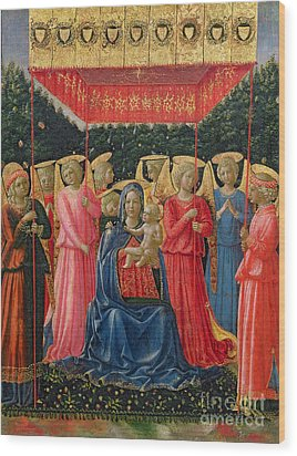 The Virgin And Child With Angels Wood Print by Fra Angelico