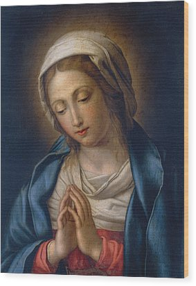 The Virgin At Prayer Wood Print by Il Sassoferrato