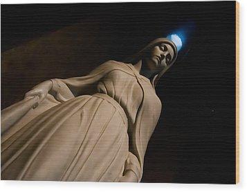 The Virgin Mary Wood Print by Joe Houghton