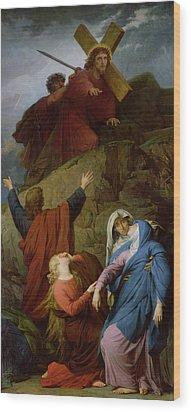 The Virgin Of Calvary Wood Print by Jules Eugene Lenepveu
